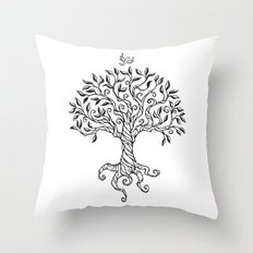 Shirley's Tree BW Throw Pillow