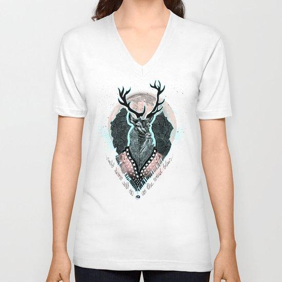 Wind:::Deer V-neck T-shirt