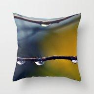 De RainDrops Throw Pillow