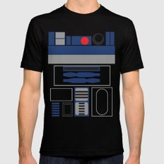 Star Wars - R2D2  SMALL Mens Fitted Tee Black
