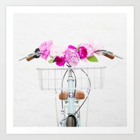 bike Art Prints featuring Bike by Lovely Indeed