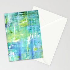 Greens and Blues Stationery Cards