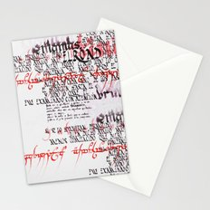 Calligraphic poster IV Stationery Cards