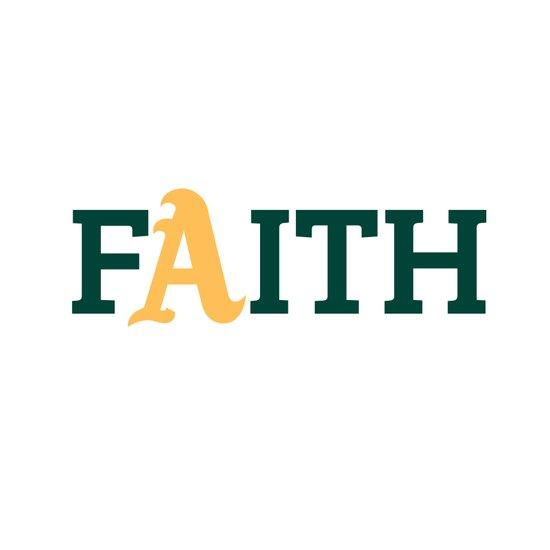 Oakland A's Faith Art Print