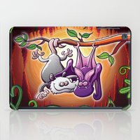 Opossum and Bat in Love iPad Case