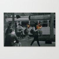 Street people collage series Canvas Print