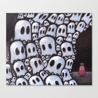 100 ghosts Canvas Print