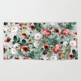 Beach Towel - Rpe Seamless Floral Pattern I - RIZA PEKER