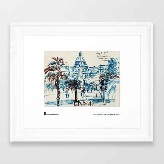 "Laura Frankstone, ""Jardin du Luxembourg, Paris"" Framed Art Print"