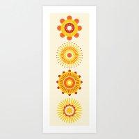 Sunburst: Yellow Art Print