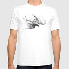 Octopus Rubescens Mens Fitted Tee White SMALL