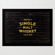Single Malt Art Print