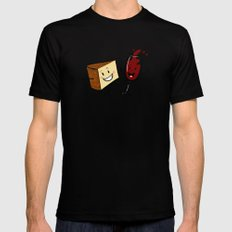Manchego & Red Wine Mens Fitted Tee Black SMALL
