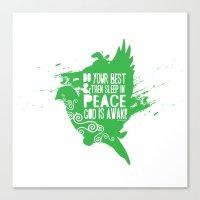 Sleep in Peace Canvas Print