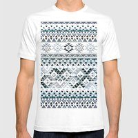GEO TRIBAL N. // GRAY VE… Mens Fitted Tee White SMALL