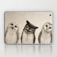 Laptop & iPad Skin featuring The Owl's 3 by Isaiah K. Stephens