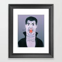 Suarez The Vampire Framed Art Print