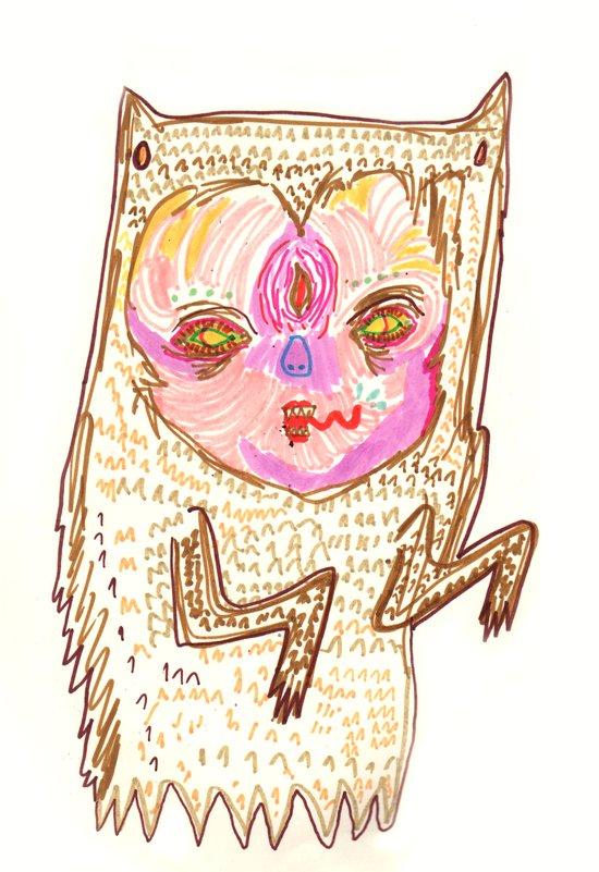 creepah ghost Art Print