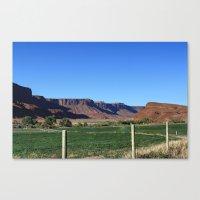 Canyon Farm Canvas Print