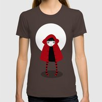Little Red Riding Hood Womens Fitted Tee Brown SMALL