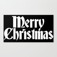 Merry Christmas White Christmas Version Canvas Print