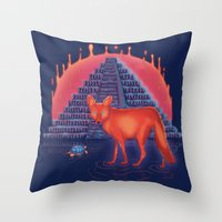Viaje Misterioso Throw Pillow