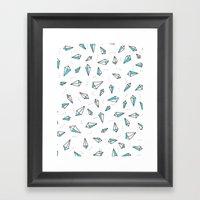 The Aqua Line Framed Art Print