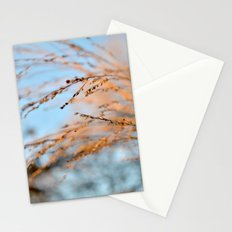 golden leaves against a blue sky. Stationery Cards