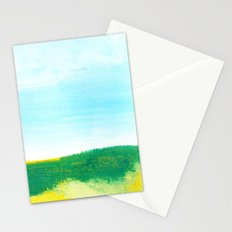 Distant forest abstract landscape Stationery Cards