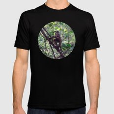 Monkey Sanctuary – Monkey with attitude Mens Fitted Tee SMALL Black