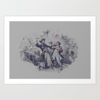 Epic Battle Art Print