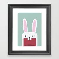 Jawdrop Bunny Framed Art Print
