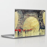 paris Laptop & iPad Skins featuring Winter in Paris by takmaj