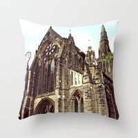 Glasgow Cathedral Mediev… Throw Pillow
