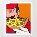 The secret Life of Heroes - MarioFood Art Print