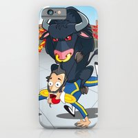 iPhone & iPod Case featuring Bullfighter by registrento
