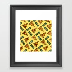Pizza & Beer Love Framed Art Print