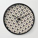 Retro Pinwheels Wall Clock