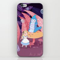 Alice In Wonderland and The Caterpillar iPhone & iPod Skin