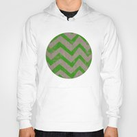 lime chevron on linen Hoody