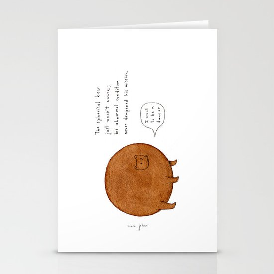 the spherical bear Stationery Card