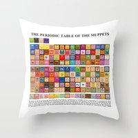The Periodic Table of the Muppets Throw Pillow