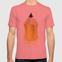 Stylized Pencil Artwork … Mens Fitted Tee Pomegranate SMALL