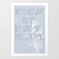 Not What You See Art Print