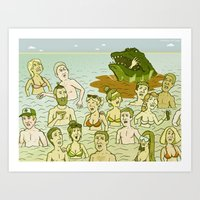 Saltwater Croc!!! Art Print