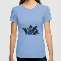 Star Whale Womens Fitted Tee Athletic Blue SMALL