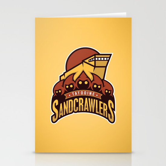 Tatooine SandCrawlers - Gold Stationery Card