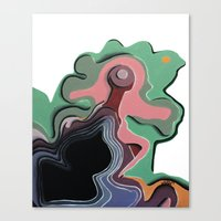 Humans in motion Canvas Print