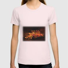 Candy Cane Lane Chevy Truck Womens Fitted Tee Light Pink SMALL