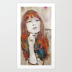 Maybe Portrait Art Print